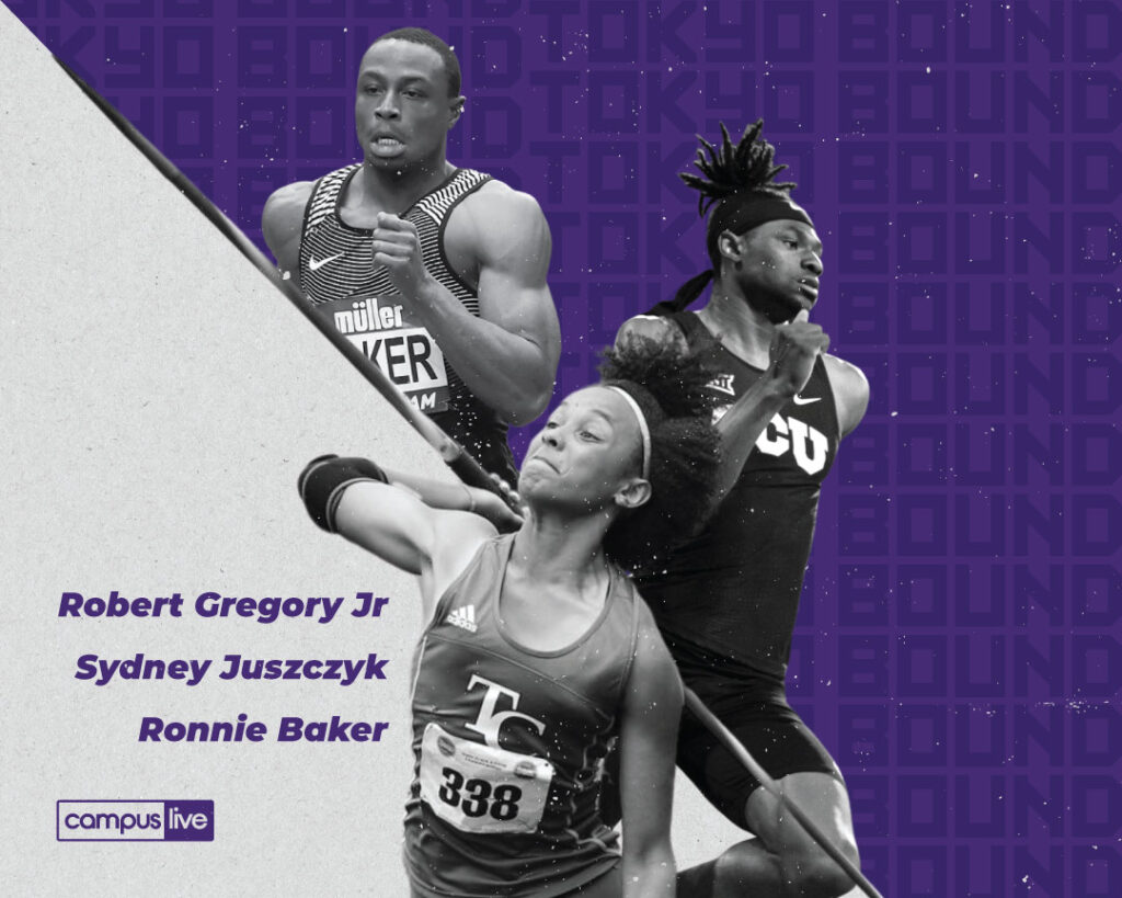 three tcu track athletes
